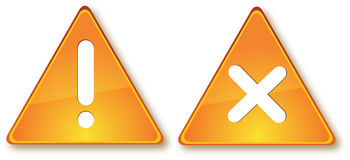 Due segni Immagine Stock