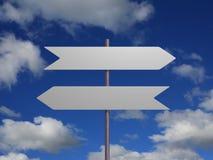 Due segni contro il cielo Immagini Stock