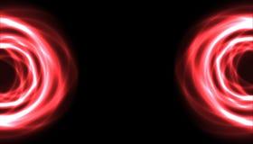 Due semicerchi plasmatici rossi dai lati Immagine Stock