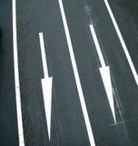 Due sensi di traffico Fotografia Stock