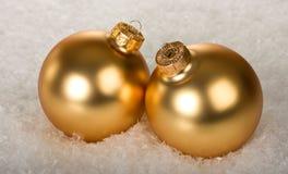 Due sfere dorate Immagine Stock Libera da Diritti