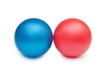 Due sfere variopinte Fotografie Stock
