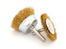 Due spazzole metalliche attraversato Immagini Stock Libere da Diritti