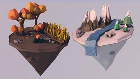 Due stagioni illustrazione vettoriale
