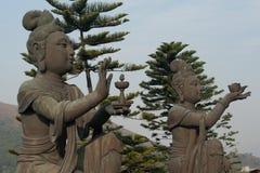Due statue di Buddha in Hong Kong Immagine Stock Libera da Diritti