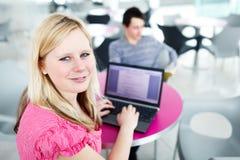 Due studenti di college divertendosi studio insieme Fotografia Stock