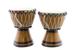 Due tamburi africani Fotografie Stock