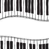 Due tasti del piano - stile di abbozzo Fotografia Stock