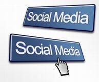 Due tasti sociali di media Fotografia Stock Libera da Diritti