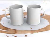 Due tazze Fotografie Stock
