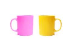 Due tazze ceramiche di colore Fotografie Stock