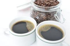 Due tazze di caffè Immagine Stock Libera da Diritti