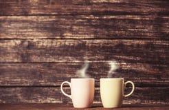 Due tazze di caffè Fotografia Stock