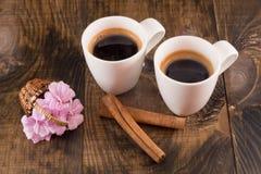Due tazze di caffè Immagini Stock