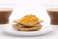 Due tazze di caffè con il biscotto Fotografie Stock