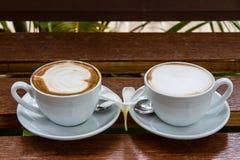 Due tazze di caffè espresso Immagini Stock Libere da Diritti