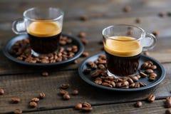 Due tazze di caffè espresso Immagine Stock