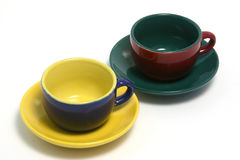 Due tazze di caffè o orizzontale Immagine Stock