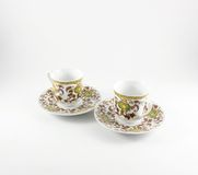 Due tazze di caffè turco Fotografie Stock