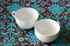 Due tazze di caffè vuote Fotografia Stock