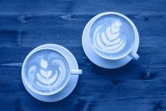 Due tazze di cappuccino immagine stock libera da diritti