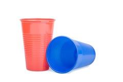 Due tazze di plastica Fotografia Stock
