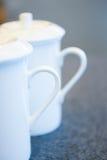 Due tazze di tè bianche Fotografia Stock Libera da Diritti