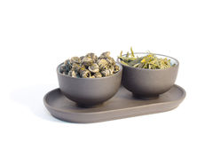 Due tazze di tè di erbe. Fotografie Stock Libere da Diritti