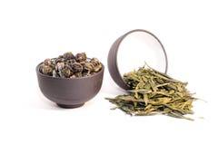 Due tazze di tè di erbe. Fotografia Stock