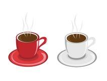 Due tazze fuori da caffè Fotografia Stock
