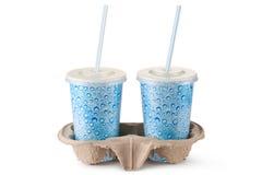 Due tazze a gettare per le bevande Fotografia Stock