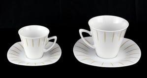 Due tazze per caffè e tè. Immagine Stock Libera da Diritti