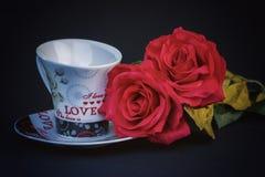 Due tazze romantiche per caffè Immagine Stock Libera da Diritti