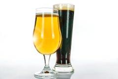 Due tipi di birre Immagini Stock