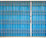 Closed Shutters in a commercial Shop Stock Photography