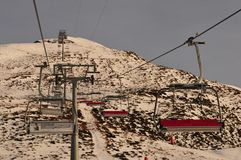Due to the global climate change artificial snow is impoortant for winter sport at Jakobshorn above Davos