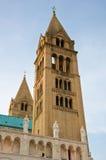 Due torrette della basilica a Pecs, Immagini Stock