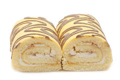 Due torte con crema bianca Immagine Stock
