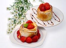 Due torte della fragola Fotografia Stock