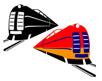 Due treni Fotografia Stock