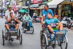 Due turisti occidentali nella città di Saigon Fotografia Stock