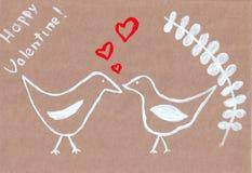 Due uccelli illustrazione di stock