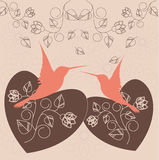 Due uccelli amorosi Fotografia Stock