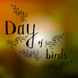 Due uccelli del fumetto in onore del giorno dell'uccello, della relazione della madre e del bambino, del ragazzo e della ragazza  illustrazione di stock