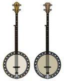 Due un banjo di cinque corde illustrazione di stock
