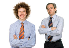 Due uomini immagine stock