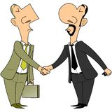 Due uomini d'affari Fotografia Stock