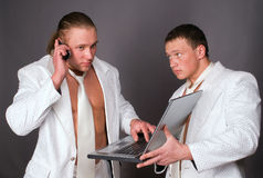 Due uomini d'affari Fotografie Stock Libere da Diritti