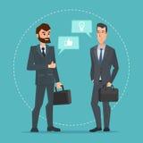 Due uomini d'affari che stanno, parlando, discutendo negoziazione Immagine Stock