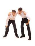 Due uomini d'affari faticosi Fotografie Stock Libere da Diritti